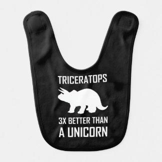 Bavoir Triceratops meilleur que la licorne