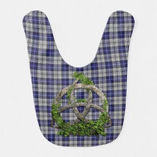 Bavoir Trinité de Celtic de tartan de Napier de clan