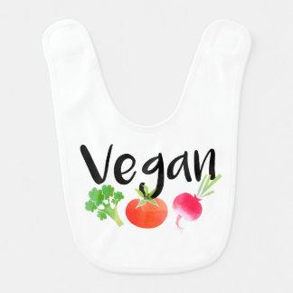 """Bavoir """"végétalien"""" de bébé de légume"""