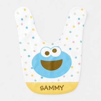 Bavoir Visage   de bébé de monstre de biscuit le grand