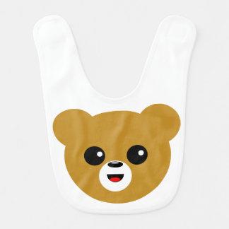 Bavoir Visage heureux mignon d'ours