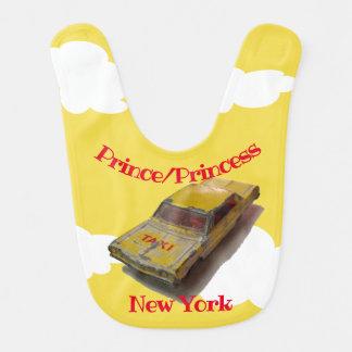 Bavoir Vol vintage de cabine de jaune de boîte