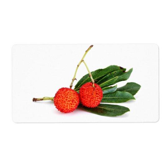 bayberry rouge étiquette d'expédition