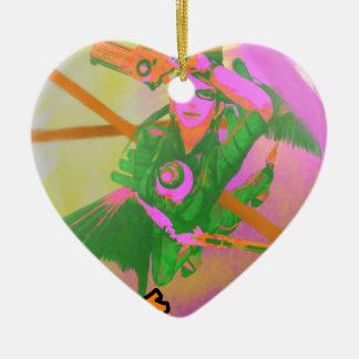 Bayonetta a imprimé ornement cœur en céramique