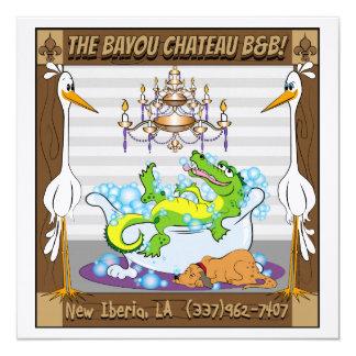 Bayou de château en nouvelle Ibérie Carton D'invitation 13,33 Cm