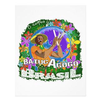 BBaC Shirt Batuc Agogo Samba Batucada Brasil Prospectus 21,6 Cm X 24,94 Cm