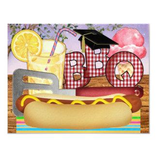 BBQ d'obtention du diplôme - Partie de barbecue - Carton D'invitation 10,79 Cm X 13,97 Cm