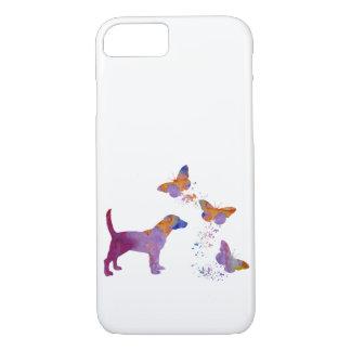 Beagle et papillons coque iPhone 7