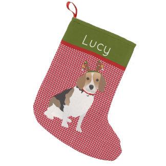 Beagle gai personnalisé petite chaussette de noël