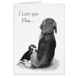 Beagle mignon de chiot avec la carte réaliste d'ar