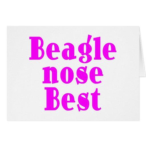 Beagles roses drôles : Nez de beagle meilleur Cartes De Vœux