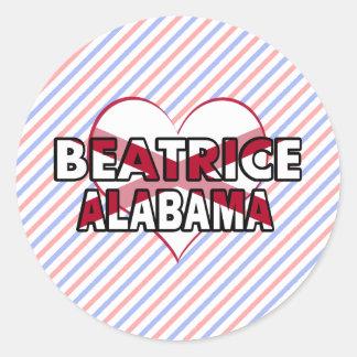 Béatrice Alabama Adhésifs Ronds