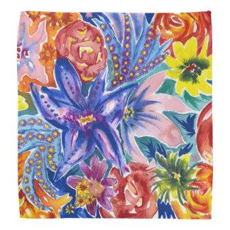 Beau Bandana tropical de couleur pour aquarelle de