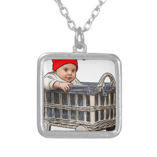 beau bébé adorable dans un panier collier
