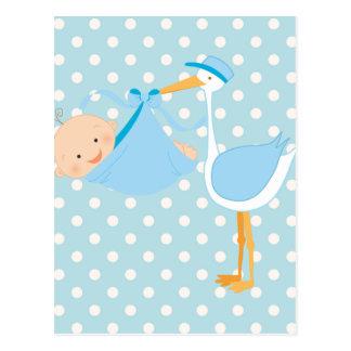Beau bébé c'est une cigogne de garçon cartes postales