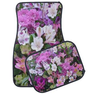 Beau bouquet de fleur tapis de sol