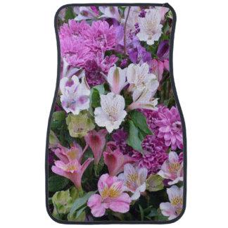 Beau bouquet de fleur tapis de voiture