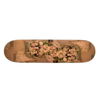 Beau bouquet de mariage skateboards personnalisés