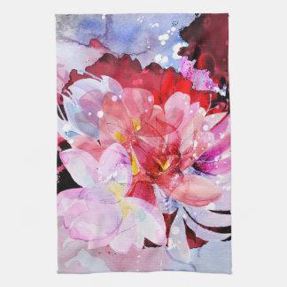 Beau bouquet des fleurs linge de cuisine