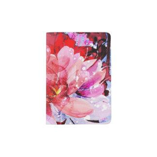 Beau bouquet des fleurs protège-passeports