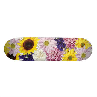 Beau bouquet floral skateboard old school  21,6 cm