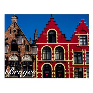Beau carré de Markt de carte postale de Bruges