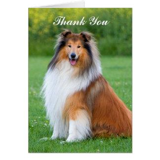 Beau carte de remerciements de portrait de chien
