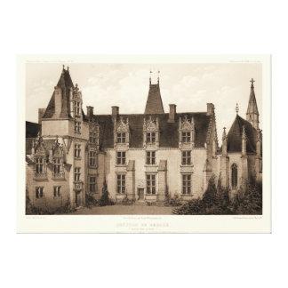 Beau château français dans des tons de sépia toile