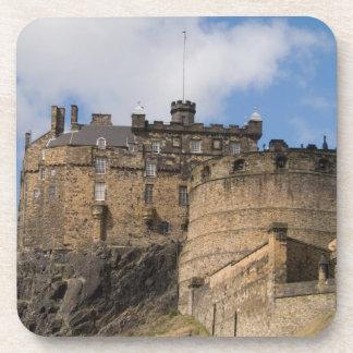 Beau château géant célèbre d'Edimbourg dedans Dessous-de-verre