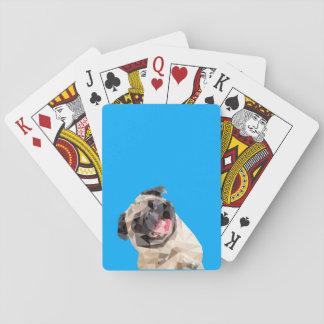 Beau chien de balais jeu de cartes