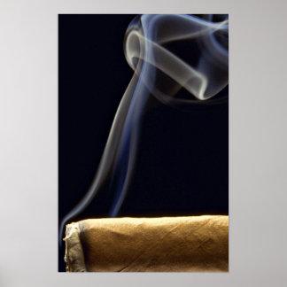 Beau cigare avec de la fumée posters