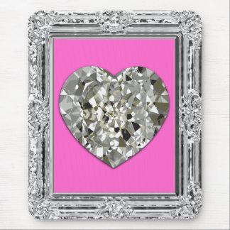 Beau coeur des diamants Mousepad Tapis De Souris