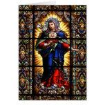 Beau coeur sacré religieux de Vierge Marie Carte De Vœux
