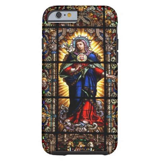 Beau coeur sacré religieux de Vierge Marie Coque iPhone 6 Tough