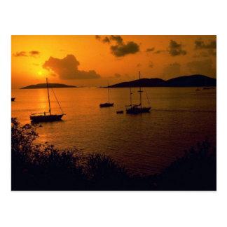 Beau coucher du soleil : Vierge Gorda, Vierge Cartes Postales