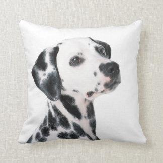 Beau coussin de photo de chien dalmatien, cadeau