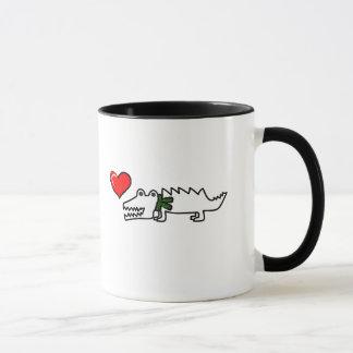 Beau crocodile mug
