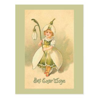 Beau cru Pâques de demoiselle de honneur Carte Postale