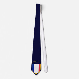 Beau drapeau de la France Cravate