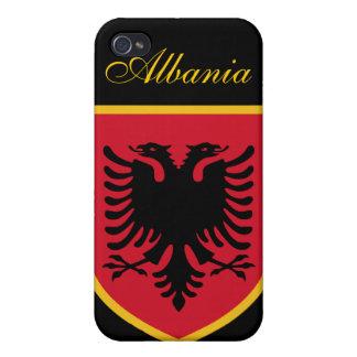 Beau drapeau de l'Albanie Étuis iPhone 4