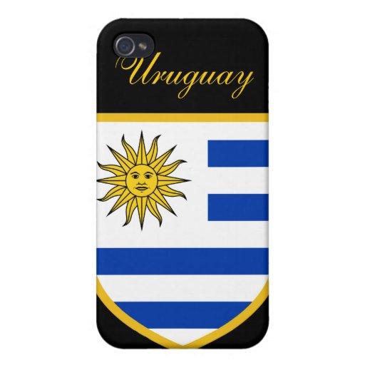 Beau drapeau de l'Uruguay Coque iPhone 4/4S