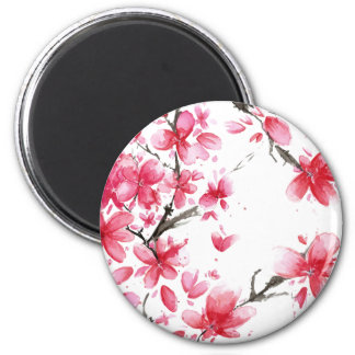Beau et élégant aimant des fleurs de cerisier |