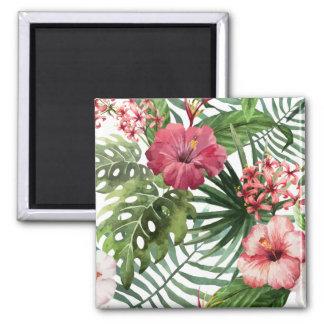 Beau et élégant aimant floral tropical de |