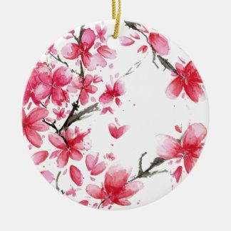 Beau et élégant ornement des fleurs de cerisier |