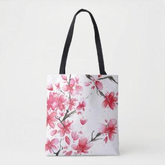 Beau et élégant sac fourre-tout à fleurs de