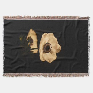 Beau floral vintage rustique couvre pied de lit
