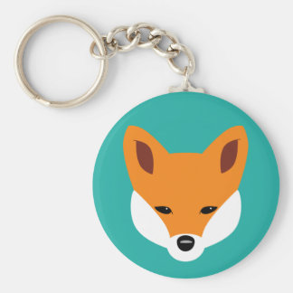 Beau Fox Porte-clé Rond