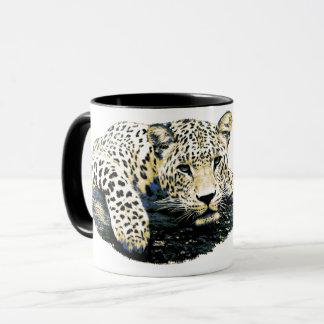 Beau graphique de léopard mugs