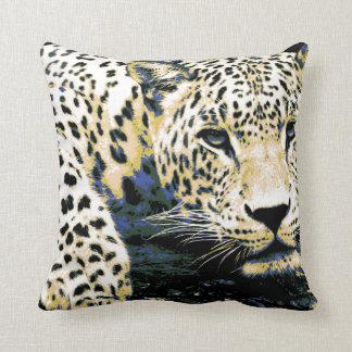 Beau graphique de léopard oreillers