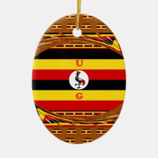Beau Hakuna extraordinaire Matata bel Ouganda Colo Ornement Ovale En Céramique